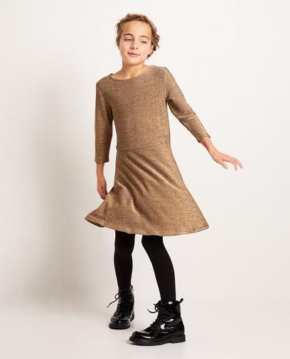 Kleid mit Metallfaden